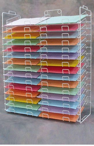 White 30 Slot 12 X 12 Paper Scrapbooking Organizer Literature Display Rack 21 702 21700 Scrapbook Paper Storage Craft Paper Storage Paper Storage