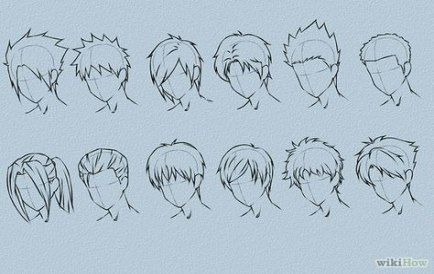 16 Ideas Hairstyles Men Anime Manga Hair Drawing Male Hair How To Draw Anime Hair