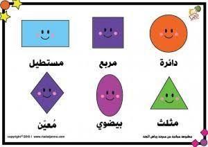 بطاقات عمل الأشكال الهندسية لأطفالنا Islamic Kids Activities Shape Activities Preschool Arabic Kids