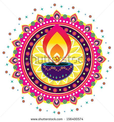 Diwali Candle Light Indian New Year Celebrating Oil Lamp Element Clipart