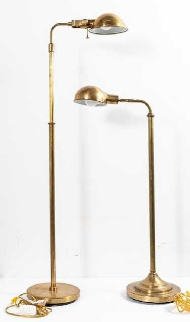 Two Ralph Lauren Brass Fairfield Floor Lamps Apr 07 2019 Ahlers Ogletree Auction Gallery In Ga Lamp Brass Floor Lamp Floor Lamp