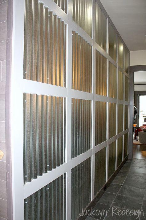 Resultado De Imagen Para Corrugated Aluminum Wall Panels Corrugated Metal Wall Hgtv Dream Home Basement Decor