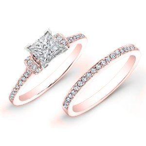 Amazoncom 135ct Round Diamond Engagement Ring Bridal Set 14K