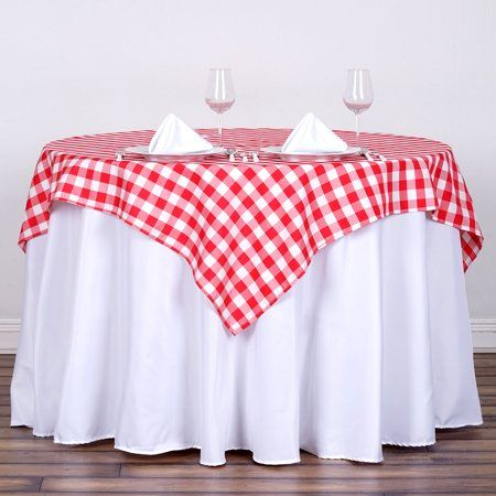 Balsacircle 54 X 54 Square Gingham Checkered Polyester Tablecloth For Garden Party Wedding Reception Catering Dining Table Linens Walmart Com Table Cloth Plaid Tablecloth Checkered Tablecloth