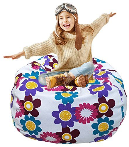 Toy Storage Ideas Kid S Stuffed Animal Storage Bean Bag Chair With Extra Long Zipper Carrying Handle Larg Bean Bag Chair Cool Bean Bags Bean Bag Chair Kids