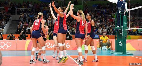 U S Women S Volleyball Team Remains Undefeated Clinches Quarterfinal Berth With Win Over Serbia Women Volleyball Volleyball Team Olympic Volleyball