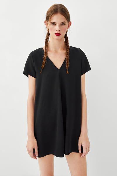 zara black t shirt dress