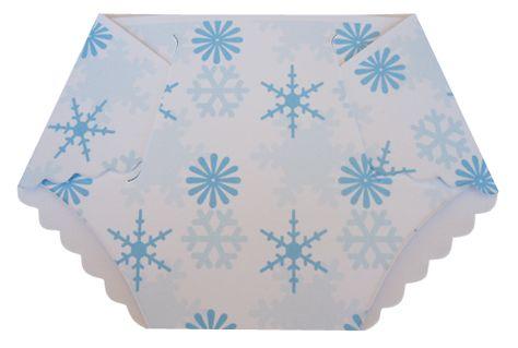 Winter Wonderland Baby Shower Diaper Invitations