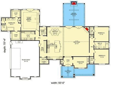 Plan 68518vr Simplified 3 Bed Rugged Ranch Home Plan Ranch House Plans House Plans Ranch House
