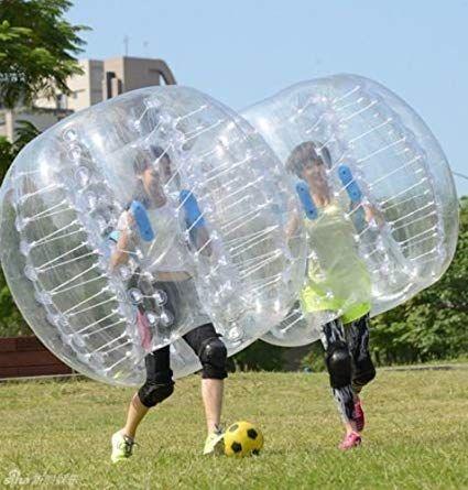 Yaekoo Pvc Transparent 5 Feet 1 5m Diameter Inflatable Bumper Ball Human Knocker Ball Bubble Soccer Football Outdoor Bubble Soccer Backyard Entertaining Soccer