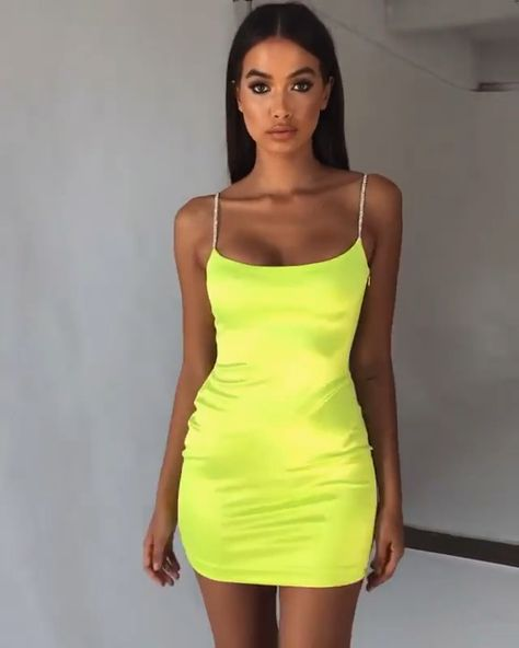 Satin Glitter Sequin Mini Dress – Faveux Fashion