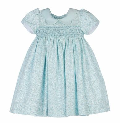 9469e92b0ee6 Discover ideas about Bebe Baby. Saved by. The Best Dressed Child. Petit  Bebe Baby / Toddler Girls Blue / White Dots Smocked Nativity Dress ...