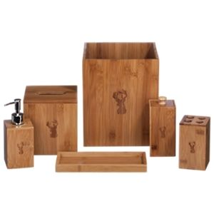 Coopersburg Products Deer Bamboo Bathroom Accessories 6Piece Set Gorgeous Bamboo Bathroom Accessories Design Decoration