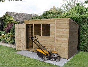 Forest Garden Overlap Pressure Treated 10x6 Pent Shed Shed Wooden Storage Sheds Wooden Sheds