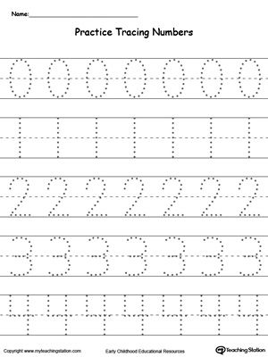 Free Printable Tracing Numbers  Copyright