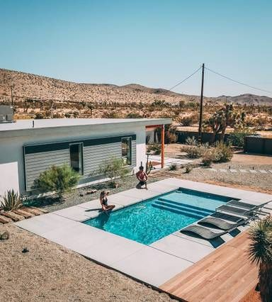 Serenity Escape Airbnb Yucca Valley Ca Pool Houses Desert Homes Arch House