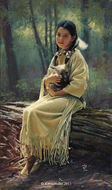 Karen Noles (1947, American) – I AM A CHILD