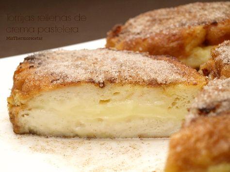 Torrijas rellenas de crema pastelera - MisThermorecetas
