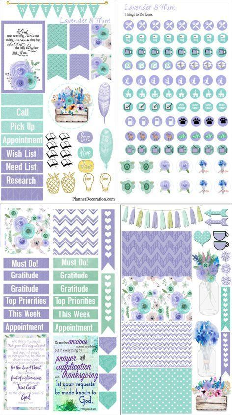 Free Planner Sample Stickers with Chore Check List Getting