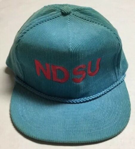 c29e67e47 Vtg North Dakota State University Zipback Hat Fargo ND Cap Corduroy ...