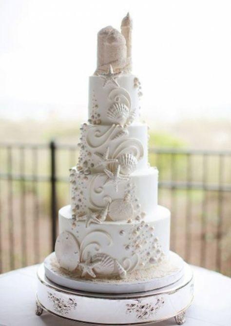 Sandcastle Beach Theme Wedding Cake