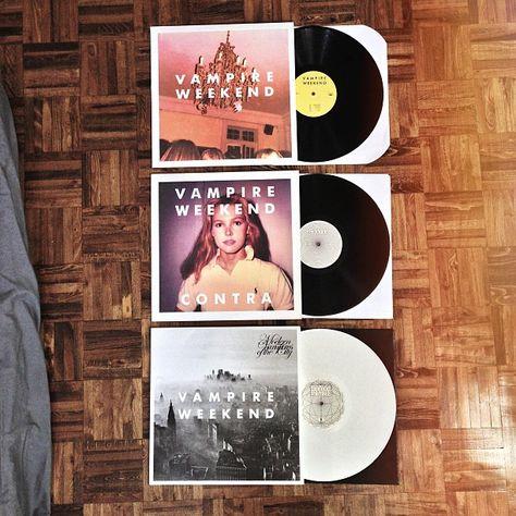 Vampire Weekend albums vinyl Vampire Weekend $19 Contra $16 Modern Vampires of the City $18