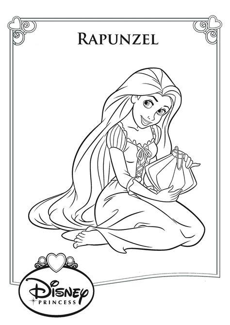 mewarnai gambar princess rapunzel  gambar princess belle
