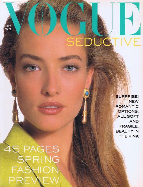 Tatjana Patitz | For Vogue Magazine Australia | July 1988 #tatjanapatitz #vogue #1988