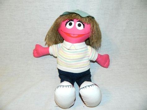 Vtg 1988 Applause Sesame Street 12 Plush Prairie Dawn Doll