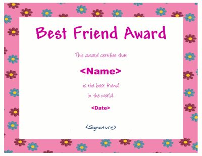 Best friend award certificate templates choice image certificate award certificate template with a dragonfly the title is blank award certificate template with a dragonfly yadclub Images