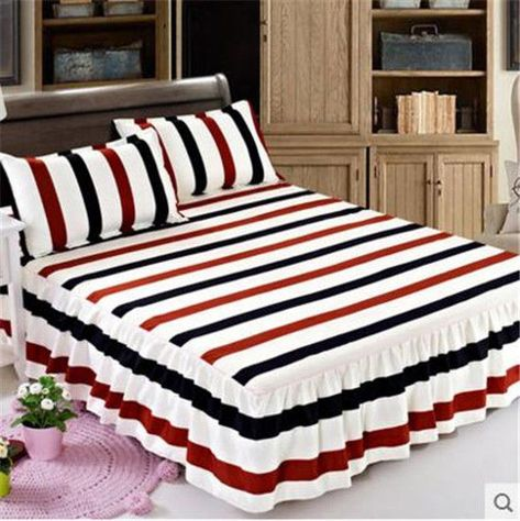 Home Single Queen King Bed Spannbetttuch Nur Polyester Fiber Rukt