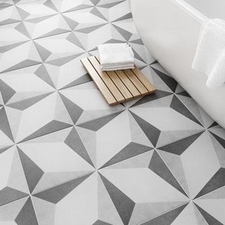 British Ceramic Tile Geometric Feature Floor Tile 331mm X 331mm Art Deco Tiles Tile Floor Tiled Hallway