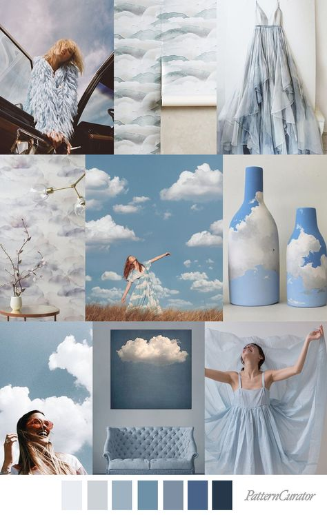 SKY HIGH - color, print & pattern trend inspiration for Spring / Summer 2019 by Pattern Curator.Pattern Curator is a trend service for color, print and pattern inspiration.