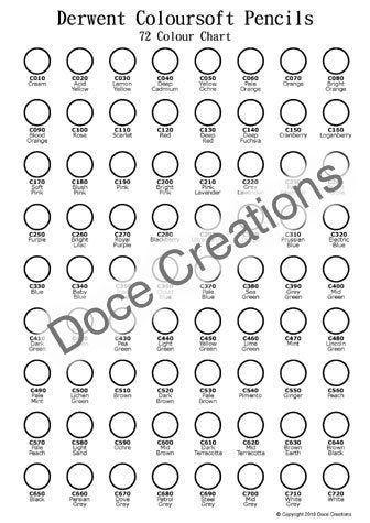 Derwent Coloursoft 72 Pencil Color Chart Template Printable Etsy Template Printable Color Chart Derwent