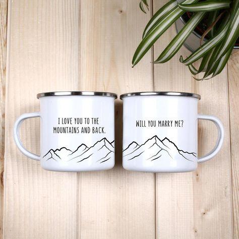 Proposal Mug Will You Marry Me Camping Mug - Buy Personalized Camping Mugs Online USA
