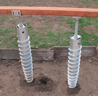 Vis de fondation pour terrasse bois NIVO Construction, Decking and - comment faire des fondations pour une maison