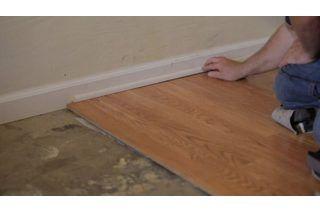 Installing Laminate Wood Flooring, Can You Put Laminate Flooring On Concrete Slab