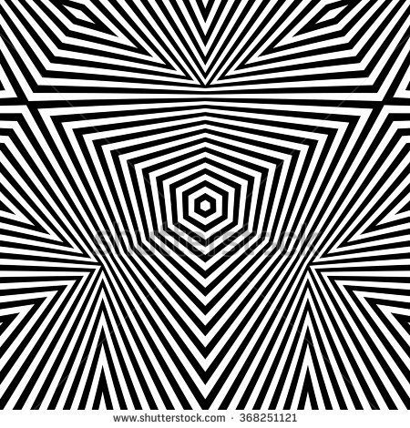 Black And White Abstract Striped Background Optical Art 3d