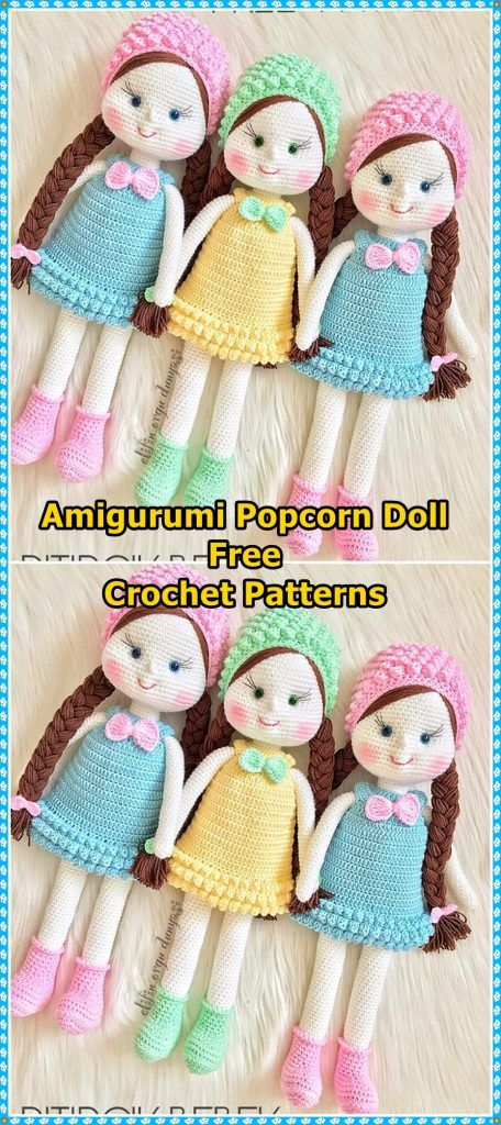 Amigurumi Lilly Doll with Bunny Hat Free Crochet Pattern in 2020 ...   1024x456