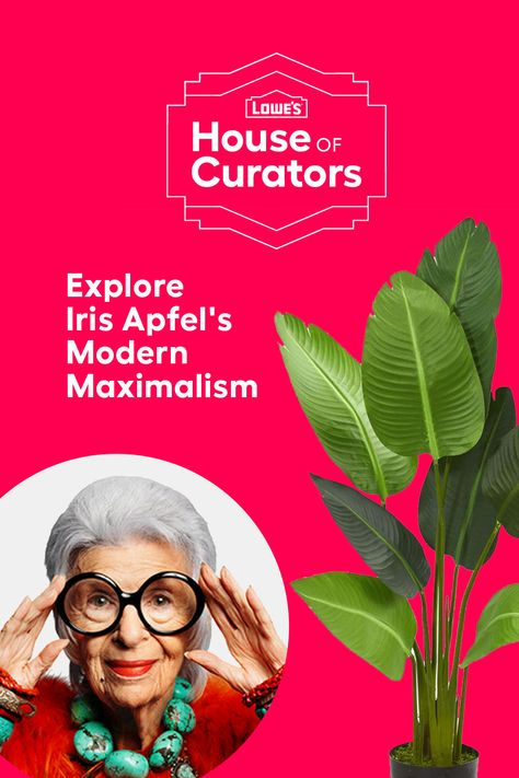 ring bold personality and energy to any room with Iris Apfel's Modern Maximalism curation for Lowe's House of Curators.