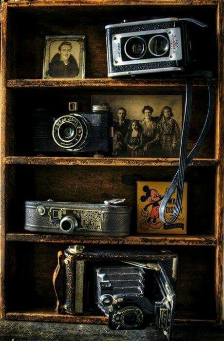 Vintage Shelf Made Out Of Old Medicine Cabinet Door Removed Vintage Cameras Old Cameras Vintage Photography