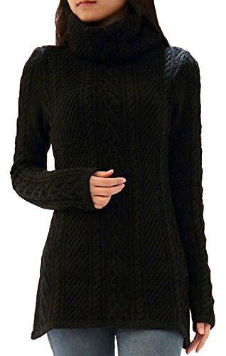 c2b6c6e5a8 La Vogue-Maglioni da Donna a Collo Alto Maglioni Caldo Medio Lungo ...