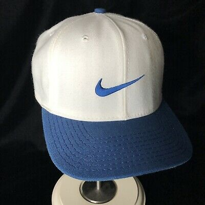 Nike Golf Hat Fitted 7 1 4 Blue White Swoosh Made Usa The Swamp Metal Swoosh Tab Nike Golf Hat Golf Hats Nike Hat