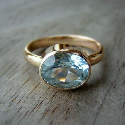 Just another item from my aquamarine obsessed list. Is it wrong for me to want to blow an entire freelance check on a ring? in 2020