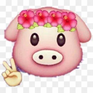 Stickers Pig Emoji Emojis Remixit Flowers Emoji Pig Png Transparent Png Pink Heart Emoji Sparkle Emoji Hand Emoji