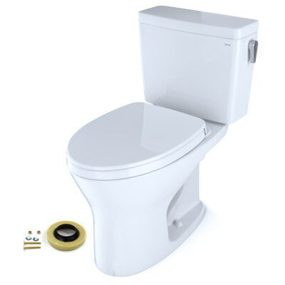 Toto Drake Dual Flush Elongated Two Piece Toilet With High Efficiency Flush Seat Included Bidet Seat Bidet Wall Mounted Toilet