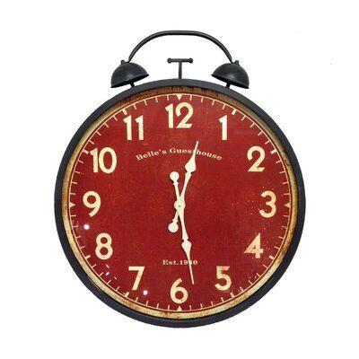 Gracie Oaks Masam Metal Alarm 26 Wall Clock Clock Alarm Clock
