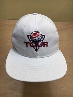 Nike Tour Snapback Hat 80s Og Vintage White Golf Cap Rare Block Letters In 2020 Snapback Hats White Vintage Nike