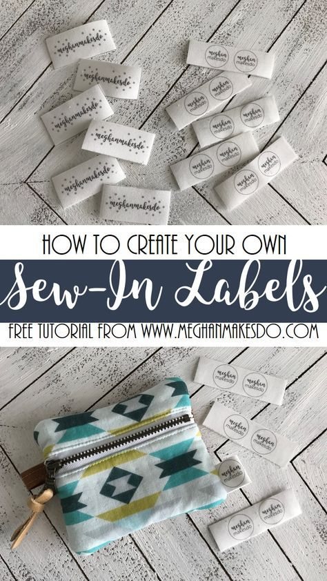 Diy Sew In Labels Diy Labels Sewing Labels Sewing Tags