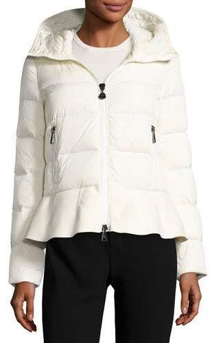 056d6380e Moncler Nesea Quilted Puffer Coat w/Wool Trim color white with ...